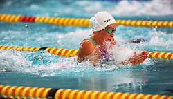 12082018 (Durban) Top Swimmer Tatjana Schoenmaker compete in woman 50 meters Breaststroke heat 7 during the final day in the coastal city of Durban were they play host to the 2018 SA National Swimming Championships (25m), with the action set to start from 9th to 12th August at the Kings Park Aquatics Centre.Picture: Motshwari Mofokeng/African News Agency (ANA)