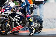Aleix Espargaro Burnout at the end of the race