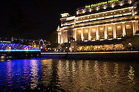 The Fullerton Hotel Singapore is a five-star luxury hotel located near the mouth of the Singapore River, in the Downtown Core of Central Area, Singapore. It was originally known as The Fullerton Building, and also as the General Post Office Building.  It was named after Robert Fullerton, the first Governor of the Straits Settlements.  The building restoration project was one of the few conservation projects in the world involving an institutional building,.during its redevelopment, the historical building had most of its special architectural features retained and restored