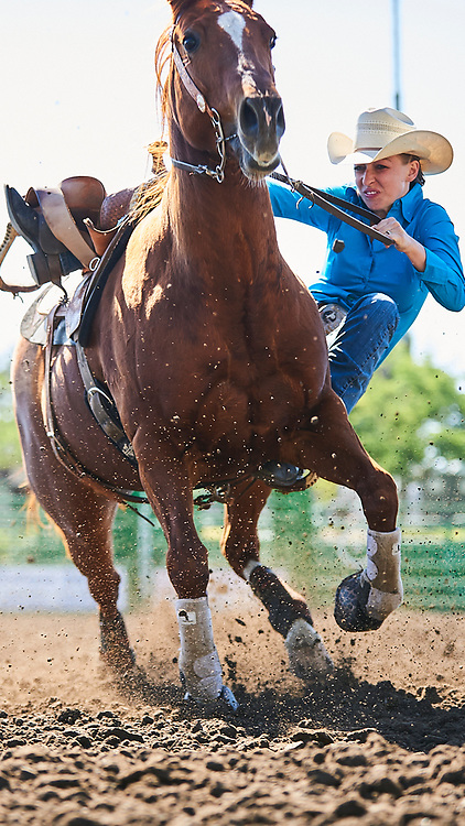 Barrel racer Rachel Dice of Livermore, CA competes at the Livermore Rodeo in Livermore, CA<br /> <br /> <br /> UNEDITED LOW-RES PREVIEW<br /> <br /> <br /> File shown may be an unedited low resolution version used as a proof only. All prints are 100% guaranteed for quality. Sizes 8x10+ come with a version for personal social media. I am currently not selling downloads for commercial/brand use.