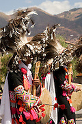 """Musicians with pipe and drums. Inti Raymi """"Festival of the Sun"""", Plaza de Armas, Cusco, Peru."""