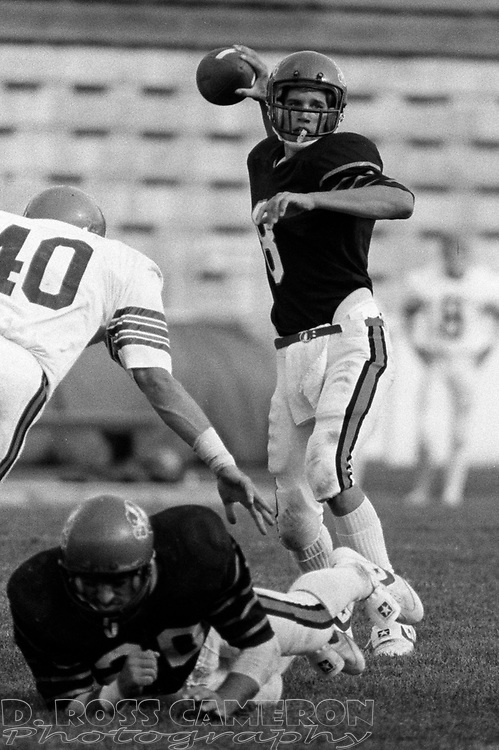 Unidentified players during the college football game between Princeton and Bucknell universities, Saturday, Sept. 24, 1983, in Princeton, N.J. (Photo by D. Ross Cameron)