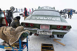 Vladimir Semenyuta's had a number of his Big Boys Big Toys cars entered into the Baikal Mile Ice Speed Festival. Maksimiha, Siberia, Russia. Thursday, February 27, 2020. Photography ©2020 Michael Lichter.