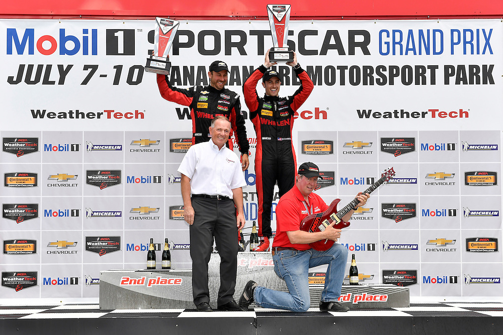 7-10 July 2016, Bowmanville, Ontario Canada<br /> Prototype winners podium 31, Chevrolet, Corvette DP, P, Eric Curran, Dane Cameron<br /> ©2016, Scott R LePage <br /> LAT Photo USA