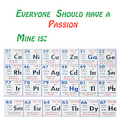 Famous quotes series: Everyone should have a passion Chemical periodic table