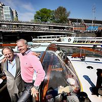 Nederland, Amsterdam , 28 april 2011..Karel Lovers , eigenaar van rederij Lovers en directeur Peter Sul, die de dagelijkse leiding heeft van het spoorweg gebeuren.Foto:Jean-Pierre Jans