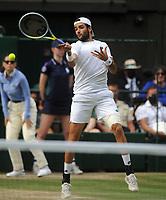 Lawn Tennis - 2021 All England Championships - Men's Final Sunday - Wimbledon - Novak Djokovic  v Matteo Berrettini on Centre Court<br /> <br />  Matteo Berrettini of Italy<br /> <br /> Credit : COLORSPORT / Andrew Cowie