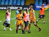 Rugby Union - 2019 / 2020 Gallagher Premiership - Bath vs Wasps<br /> <br /> Wasps' Gabriel Oghre leaves the pitch injured resulting in uncontested scrums as both hookers were injured, at the Recreation Ground.<br /> <br /> COLORSPORT/ASHLEY WESTERN