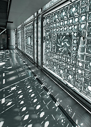 Interior view of windows  in the Institut du Monde Arabe in Paris France Architect Jean Nouvel