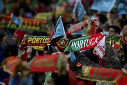 June 7, 2018 - Lisbon, Portugal - Portugal's supporters waving their scarfs during a friendly match Portugal x Argelia in Luz Stadium Lisbon, on June 7, 2018. (Credit Image: © Carlos Costa/NurPhoto via ZUMA Press)