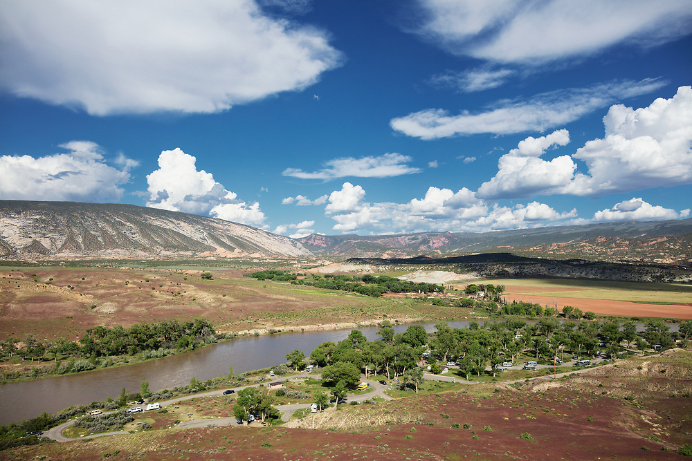 View of Green River Campground from River Trail in Dinosaur National Monument
