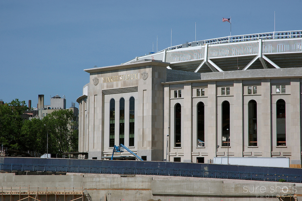 """The """"new"""" Yankee Stadium in New York City as it was nearing completion, right next to the original stadium.   Photo taken June 2008."""