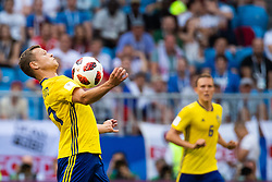 July 7, 2018 - Samara, Russia - 180707 Viktor Claesson of Sweden during the FIFA World Cup quarter final match between Sweden and England on July 7, 2018 in Samara..Photo: Petter Arvidson / BILDBYRÃ…N / kod PA / 92083 (Credit Image: © Petter Arvidson/Bildbyran via ZUMA Press)