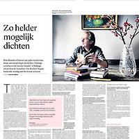 Tekst en beeld zijn auteursrechtelijk beschermd en het is dan ook verboden zonder toestemming van auteur, fotograaf en/of uitgever iets hiervan te publiceren <br /> <br /> Trouw 1 september 2014: Wim Brands van Boeken