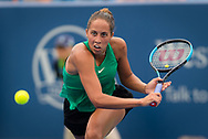 Madison Keys of the United States in action during her third-round match at the 2018 Western and Southern Open WTA Premier 5 tennis tournament, Cincinnati, Ohio, USA, on August 16th 2018 - Photo Rob Prange / SpainProSportsImages / DPPI / ProSportsImages / DPPI
