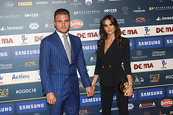 December 3, 2018 - Milan, Italy - Ciro Immobile and Jessica Malena at 'Oscar Del Calcio AIC' Italian Football Awards photocall in Milano, Italy, on December 03 2018  (Credit Image: © Mairo Cinquetti/NurPhoto via ZUMA Press)