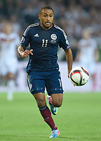 Fotball<br /> Tyskland v Skottland<br /> 07.09.2014<br /> Foto: Witters/Digitalsport<br /> NORWAY ONLY<br /> <br /> Ikechi Anya (Schottland)<br /> Fussball, EM-Qualifikation, Deutschland - Schottland 2:1
