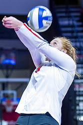 BLOOMINGTON, IL - November 22: Sydney Holt during a college Women's volleyball match between the ISU Redbirds and the Sycamores of Indiana State on November 22 2019 at Illinois State University in Normal, IL. (Photo by Alan Look)