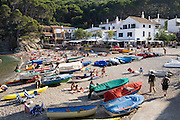 Sa Tuna beach, Costa Brava, Spain. Costa Brava is a region of rugged coastline, beautiful beaches and resorts in northeastern Spain.