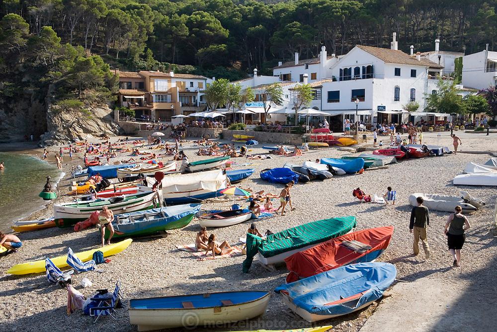 Sa Tuna beach, Costa Brava, Spain. Costa Brava is a region of rugged coastline, beautiful beaches and resorts in northeastern Spain.