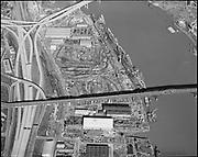 "Ackroyd 16602-3 ""Zidell Explorations. Aerial of plant. February 20, 1970"" (Ross Island bridge)"