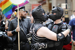 July 8, 2017 - London, London, UK - London, UK. People march at The Pride in London Festival in central London on  Saturday, 8 July 2017 to celebrate all aspects of the LGBT+ community. The Parade attracts an estimated crowd of 1 million people and around 26,500 people take part in the march every year. (Credit Image: © Tolga Akmen/London News Pictures via ZUMA Wire)