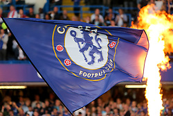 Chelsea flag - Rogan Thomson/JMP - 15/08/2016 - FOOTBALL - Stamford Bridge Stadium - London, England - Chelsea v West Ham United - Premier League Opening Weekend.