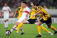 v.l. Ciprian Marica VfB, Marian Cisovsky<br /> UEFA Champions League Play-Off Rueckspiel VfB Stuttgart - FC Timisoara<br /> <br /> Norway only