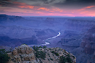 Pre dawn light over the Grand Canyon from Desert View, South Rim, Grand Canyon Nat. Pk., ARIZONA