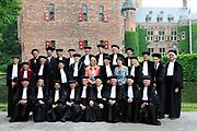 Prinses Maxima aanwezig bij de oratie professor van Dijk op de op Nyenrode Business Universiteit. // Princess Maxima attended the lecture of Professor van Dijk at the Nyenrode Business University.<br /> <br /> Op de foto / On the Photo:  Prinses Maxima en (R)prof.dr.ir. Gert van Dijk (en (L) de Rector Magnificus Prof. Dr. Maurits van Rooijen