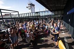 Benjamin Savsek, Olympic gold medalist during his arrival from Tokyo 2020 on July 28, 2021 in Airport Joze Pucnik, Brnik, Ljubljana, Slovenia. Photo by Matic Klansek Velej / Sportida