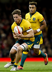 Michael Hooper of Australia<br /> <br /> Photographer Simon King/Replay Images<br /> <br /> Under Armour Series - Wales v Australia - Saturday 10th November 2018 - Principality Stadium - Cardiff<br /> <br /> World Copyright © Replay Images . All rights reserved. info@replayimages.co.uk - http://replayimages.co.uk