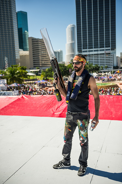 Lebo  -  Pose for a portrait at RedBull Flugtag in Miami, Florida on 11/03/2012