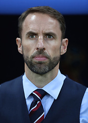 MOSCOW, July 11, 2018  Head coach Gareth Southgate of England is seen prior to the 2018 FIFA World Cup semi-final match between England and Croatia in Moscow, Russia, July 11, 2018. (Credit Image: © Xu Zijian/Xinhua via ZUMA Wire)