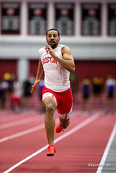 Harvard University<br /> Crimson Elite Indoor track & field meet<br /> men 60m qualifying<br /> Nikolas Smith