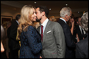 ANNA CHERNEY; KARIM SIEGFRIED, The hon Alexandra Foley hosts drinks to introduce ' Lady Foley Grand Tour' with special guest Julian Fellowes. the Sloane Club. Lower Sloane st. London. 14 May 2014