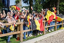 RIESENBECK - FEI Jumping European Championship Riesenbeck 2021<br /> <br /> Belgische Fans, Team Belgium<br /> Impressionen am Abreiteplatz<br /> Second Qualifying Competition - Round 2 <br /> Team Final<br /> <br /> Hörstel-Riesenbeck, Reitanlage Riesenbeck International<br /> 03. September 2021<br /> © www.sportfotos-lafrentz.de/Stefan Lafrentz