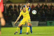 Stuart Sinclair and Joe Rafferty during the EFL Sky Bet League 1 match between Rochdale and Bristol Rovers at Spotland, Rochdale, England on 2 October 2018.