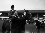 7/8/1958<br /> 8/7/1958<br /> 07 August 1958<br /> <br /> R.D.S. Horse Show The Supreme Champion of the show Jill Banks