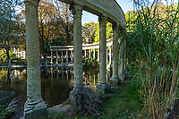 Parc Monceau Colonade - Parc Monceau was built in the 17th century by order of the Duke of Chartres. Today it is one of the most elegant gardens in Paris entering through a large wrought-iron gate embellished with gold visitors find many surprises: statues, a renaissance arch that once belonged to Paris City Hall, trees, a wide variety of birds and a large pond surrounded by collonades - and is well known by residents of the 18th arrondissement as a pleasant park.