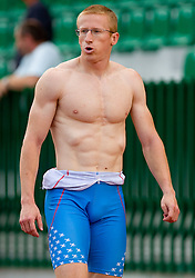 Matic Osovnikar  after men 100 m at Slovenian National Championships in athletics 2010, on July 17, 2010 in Velenje, Slovenia. (Photo by Vid Ponikvar / Sportida)