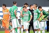 Fotball<br /> Tyskland<br /> 18.05.2014<br /> Foto: Witters/Digitalsport<br /> NORWAY ONLY<br /> <br /> Spielende v.l. Torwart Wolfgang Hesl, Benedikt Roecker, Zoltan Stieber, Nikola Djurdjic, Thomas Pledl (Fuerth)<br /> <br /> Fussball Bundesliga, Relegation Rueckspiel, <br /> SpVgg Greuther Fürth - Hamburger SV
