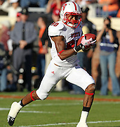 Oct. 22, 2011 - Charlottesville, Virginia - USA; North Carolina State wide receiver Bryan Underwood (80) runs in for a touchdown during an NCAA football game against the Virginia Cavaliers at the Scott Stadium. NC State defeated Virginia 28-14. (Credit Image: © Andrew Shurtleff/