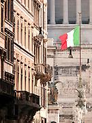Street to Monument to Vittorio Emanuelle II, the Capidoglio, Rome, Italy