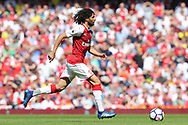 Arsenal midfielder Mohamed Elneny (35) during the Premier League match between Arsenal and West Ham United at the Emirates Stadium, London, England on 22 April 2018. Picture by Bennett Dean.