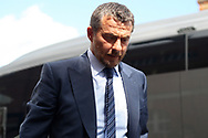 Fulham Manager Slavisa Jokanovic arrives at Craven Cottage for today's game. EFL Skybet football league championship match, Fulham v Cardiff city at Craven Cottage in London on Saturday 9th September 2017.<br /> pic by Steffan Bowen, Andrew Orchard sports photography.