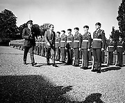 US President Richard Nixon inspects a guard of honour at Aras an Uachtarain. During his visit, Nixon went to Timahoe, Co Kildare, from where his Quaker ancestors, Thomas and Sarah Milhous, had left for Pennsylvania in 1729.<br /> 05/10/1970