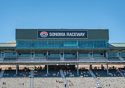 June 22, 2018 - Sonoma, CA, U.S. - SONOMA, CA - JUNE 22:  Spectators begin to fill the stands on Friday, June 22, 2018 at the Toyota/Save Mart 350 Practice day at Sonoma Raceway, Sonoma, CA (Photo by Douglas Stringer/Icon Sportswire) (Credit Image: © Douglas Stringer/Icon SMI via ZUMA Press)