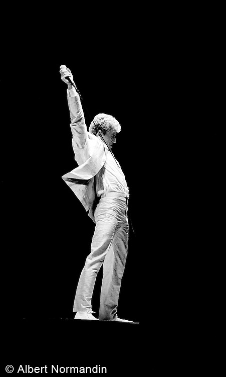 Roger Daltrey of The Who with arm up