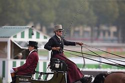 Chester Weber, (USA), Boris W, Boy W, Para, Splash, Uniek - Driving Cones - Alltech FEI World Equestrian Games™ 2014 - Normandy, France.<br /> © Hippo Foto Team - Dirk Caremans<br /> 07/09/14